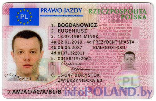 польские водительские права